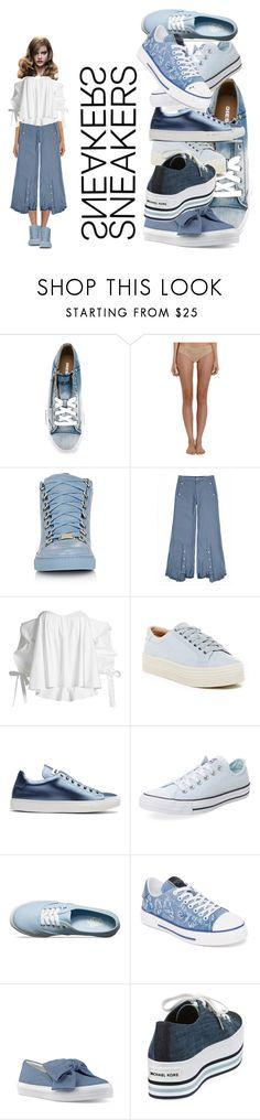 """Sneakers Girl"" by rhaxkido ❤ liked on Polyvore featuring Diesel, Cosabella, Jamie Wei Huang, Caroline Constas, Marc Fisher LTD, Jil Sander, Converse, Vans, Valentino and Nine West"