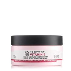 Vitamin E Sink In Moisture Mask by The Body Shop - Sink some antioxidant Vitamin E into your skin. Bring skin back to optimum moisture level with this intensely hydrating mask. Charcoal Mask Benefits, Charcoal Mask Peel, The Body Shop, Mask For Dry Skin, Skin Mask, Body Shop Vitamin E, Moisturizing Face Mask, Peeling, Sleep Mask