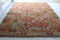 Teppich, Original Kelim aus Afghanistan, ca. 139x198 cm, Einzelstück