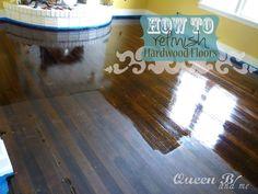 How To Refinish Hardwood Floors yourself!..  and other DIY Home updates #hardwoodfloors #refinish #DIY