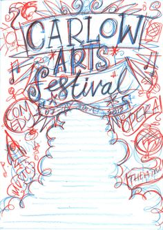 I love this!!!  Arts Festival Poster by Steve Simpson, via Behance