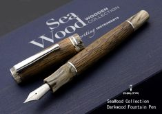 Stationary shop Wancher | Rakuten Global Market: Seawood fountain pen dark suction piston top 2015 new! Appeal of natural wood ilocowood