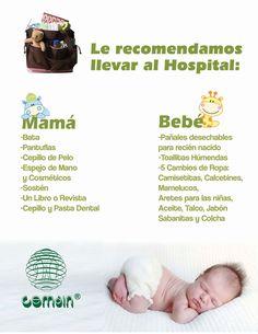 #Consejos #Recomendaciones para llevar al #hospital el día de #parto  #Mamá #bebé #nacimiento