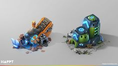 ArtStation - Ore Mine and Barracks for Goodgame Studios, Happy Tuesday