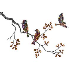 Bird Wall Decals, Wall Stickers Murals, Wall Decor Set, Office Wall Decor, Wall Colors, Beautiful Birds, Tree Branches, Things To Come, Walls