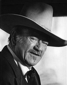 Portrait of John Wayne on the set of his final movie 'The Shootist' in 1976 in Los Angeles, California.