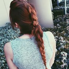 #Braids for days! The top mohawk section is a #dutchbraid . The rest of the hair was then pulled into a pony tail. The pony tail was then made into a regular #braid. Finish by wrapping the end of the Dutch braid around the ponytail.  #hair #hairdo #hairst