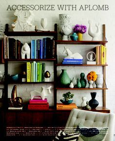 elle decor shelf accessorizing - Google Search
