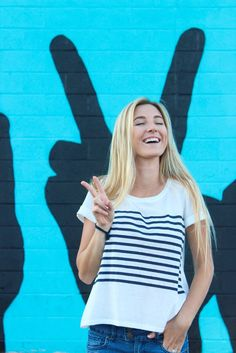 Annika Striped Blue and White Top - Shop Nelipot Apparel Women's Clothing. Peace, Love, and Summer!