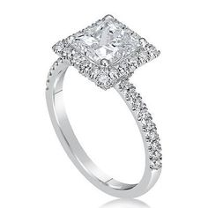 jewelry: 2.25 CT VS2/D PRINCESS CUT DIAMOND SOLITAIRE ENGAGEMENT RING 18K WHITE GOLD #Jewelry - 2.25 CT VS2/D PRINCESS CUT DIAMOND SOLITAIRE ENGAGEMENT RING 18K WHITE GOLD...