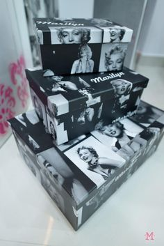 Marilyn Monroe Decor Boxes For The Bathroom Or Home Saloon