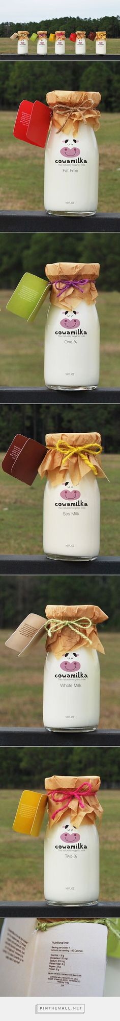 Adorable cow milk packaging and logo design!