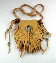 Image detail for -Medicine Bag of Buckskin by Native American Miami Indian Moonwalker