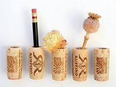 Corcho del vino imanes bricolaje Set de 5 por AlissaRose en Etsy