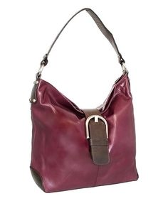 Another great find on #zulily! Viola Buckle Up Leather Hobo #zulilyfinds
