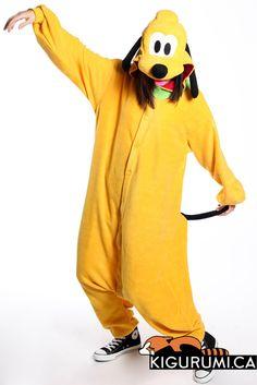 Pluto Kigurumi Onesie Disney Character Adult Costume Pajamas - face details