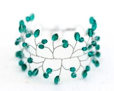 Hey, I found this really awesome Etsy listing at https://www.etsy.com/listing/198157343/emerald-bracelet-green-bracelet-crystal