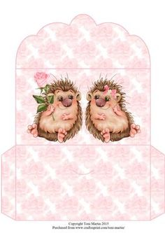 Hedgehog Love Money Wallet by Toni Martin A money wallet to co-ordinate with my mini kit cup663800_1894