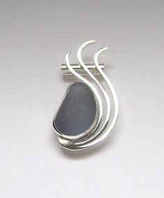 Sea Glass Jewelry  Sterling Rare Dark Gray Sea by SignetureLine, $85.00