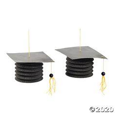 Graduation Party Favors, Graduation Decorations, Graduation Party Decor, Grad Parties, Paper Decorations, Graduation Ideas, Graduation Celebration, Hanging Paper Lanterns, 8th Grade Graduation