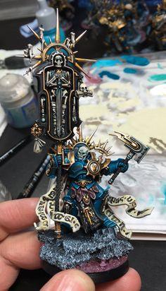 Warhammer Paint, Warhammer 40k Art, Warhammer Models, Warhammer 40k Miniatures, Warhammer Fantasy, Stormcast Eternals, Fantasy Miniatures, Mini Paintings, Space Marine
