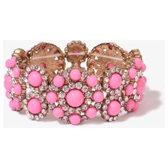 FOREVER 21 Colored Bead Bangle ($8.99) ❤ liked on Polyvore featuring jewelry, bracelets, accessories, pink, rhinestone bangle bracelet, forever 21, forever 21 jewelry, pink rhinestone jewelry and cut out jewelry