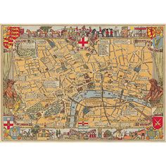 17th century London map. Ready for framing. $4.99