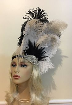 Items similar to Great Gatsby Headband Gatsby Style Headpiece Hair Accessories Art Deco Prohibition Party Flapper Roaring Headdress Champagne on Etsy Gatsby Hair, Gatsby Headband, Feather Headdress, Headpiece, Red Fascinator, Fascinators, 1920s Hair Accessories, Mardi Gras Costumes, Fairy Costumes