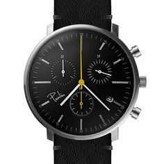 The C200 Chronograph has three dials for measuring 24 hours, 30 minutes and 60 seconds. #watches