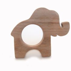 Organic, Natural wooden ELEPHANT teether toy by Organic Toy Co