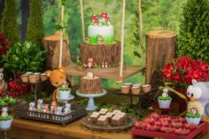 Woodland wishes are sure to be fulfilled in this darling Enchanted Forest Birthday Party submitted and styled by Daniela Luzani of Mimos Poá . Celebrate with Love , out of Garibaldi-RS / ...