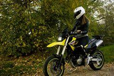 Crazy Girl #lovemyself #motogirl #motorcycle #chick #passion #honda #fmx650 #yellow #helmet #twowheels