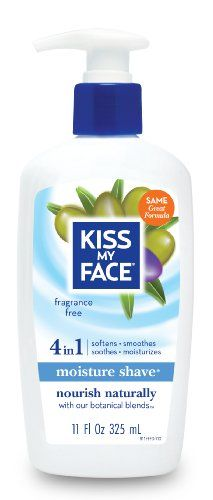 Kiss My Face Fragrance Free Moisture Shave, 11-Ounce Pumps (Pack of 4) Kiss My Face,http://www.amazon.com/dp/B000FTIY9K/ref=cm_sw_r_pi_dp_jd7Ctb1G9PJ66QVQ