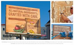 Lays kettle cooked chips, hand carved billboard.
