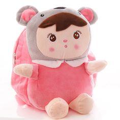 Cute cartoon children's bags kindergarten baby backpack of children 1-3 years old Korean Plush Backpack