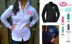 Preppy Fitted Monogram Popover - Navy, Black or Gray – Prep Obsessed XL, grey with pink script