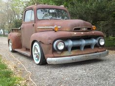 "52 Ford truck on Craigslist - letters on front rearranged to spell ROFD. ""All real patina..."""