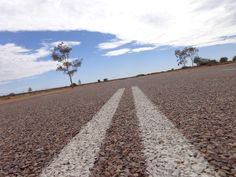Lonely tarmac in the centre of Australia