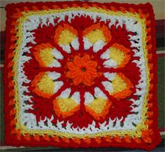 Ravelry: Indian Paint Brush Square pattern by Edie Snyder