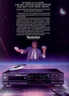 gameraboy:  Technics CD Players, 1987 ad