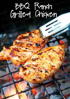 bbq ranch grilled chicken