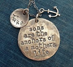 Son Necklace. Nautical Necklace.. $45, via Etsy. (oh how i really want this for Lucas)