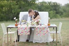 Bohemian Wedding With Chevron Details by Joie Lala Photography