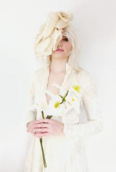 fumbalinas - A/W 15 silk flower headpiece #statement #silk #flower #fascinator #headpiece