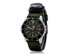 Watch Compass Attachment | Military Style with Compass Sports Unisex Wrist Watch Green | eBay