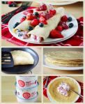 crepes + greek yogurt + fruit