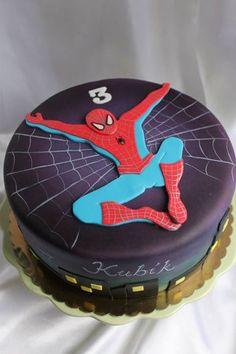 simple Spiderman cake