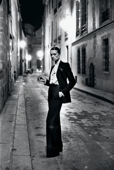 For the ladies, Le Smoking. Suit & Tie: Inspiration for Wedding Tuxedos & Suits - Wedding Party