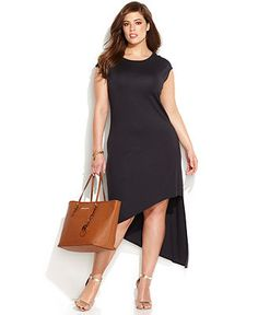 MICHAEL Michael Kors Plus Size Cap-Sleeve High-Low dress. LOVE THIS!