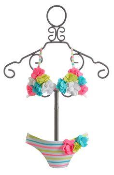 Kate Mack Garden Stripe Girls Bikini $56.00